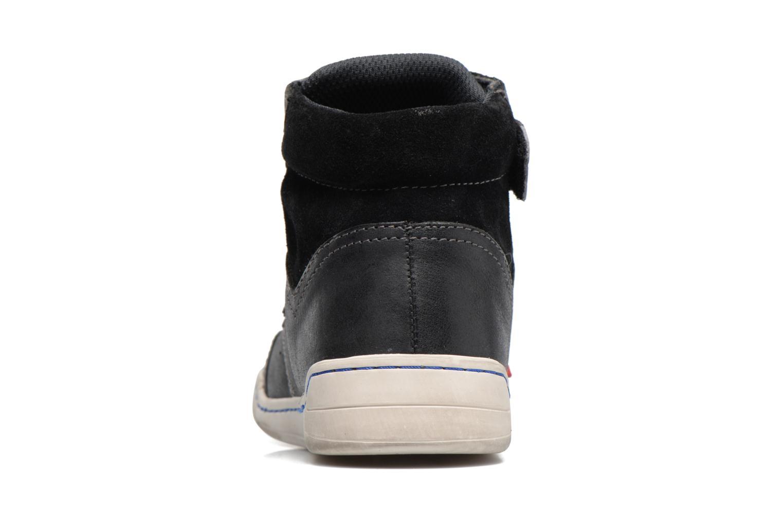 Chaussures à scratch Kickers Winsor Noir vue droite