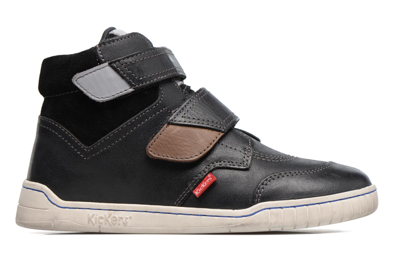 Chaussures à scratch Kickers Winsor Noir vue derrière