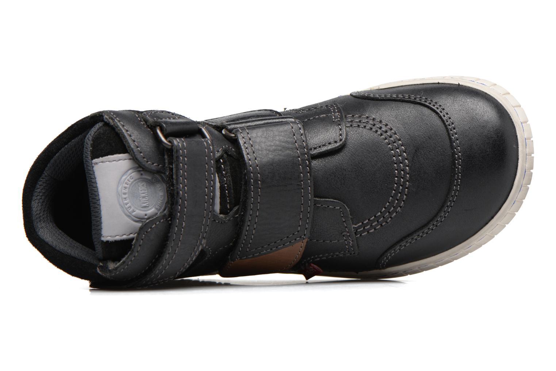 Chaussures à scratch Kickers Winsor Noir vue gauche