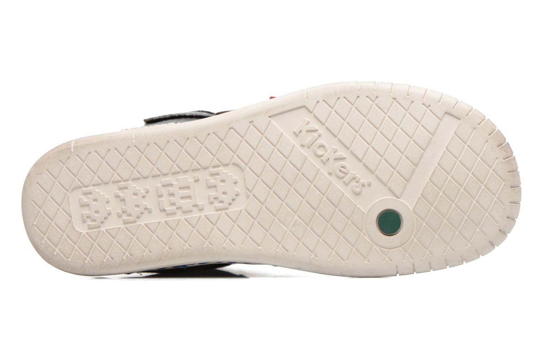 Chaussures à scratch Kickers Winsor Noir vue haut