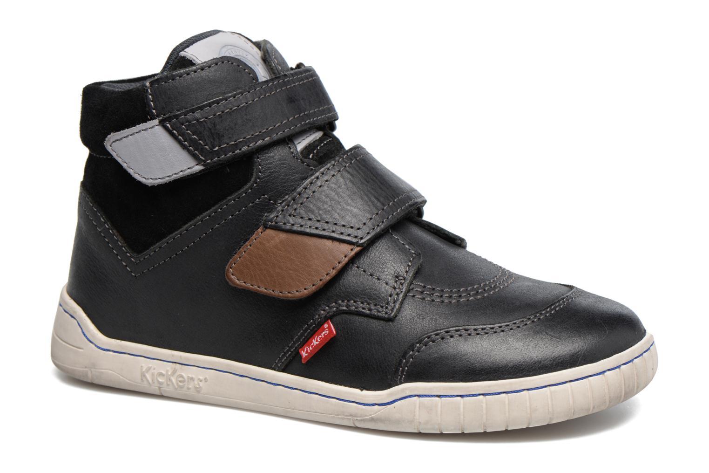 Chaussures à scratch Kickers Winsor Noir vue détail/paire