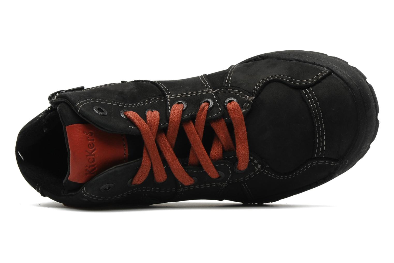 Baskets Kickers FORSHIGH Noir vue gauche