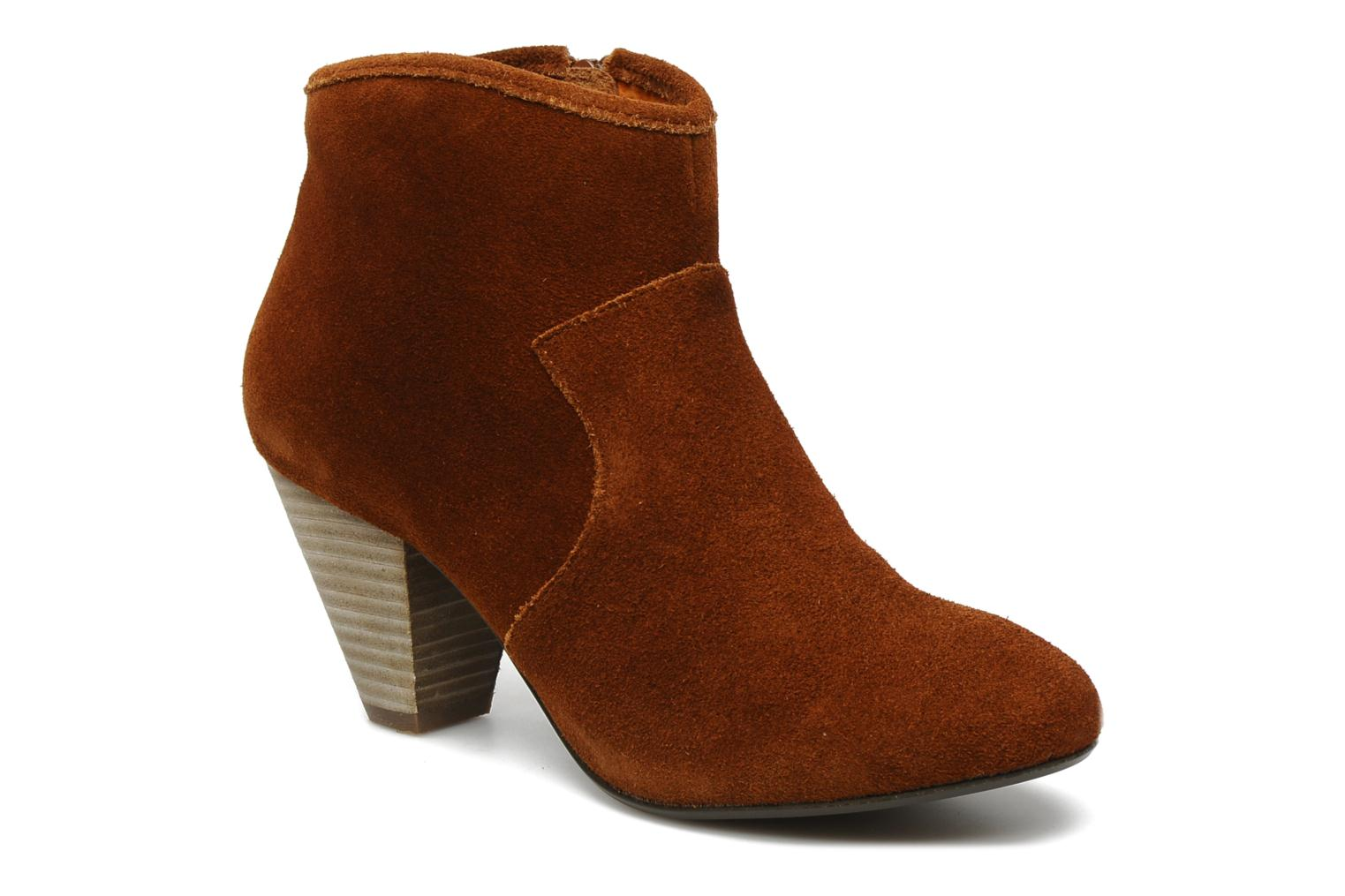Ankle boots Georgia Rose Ipana Brown detailed view/ Pair view