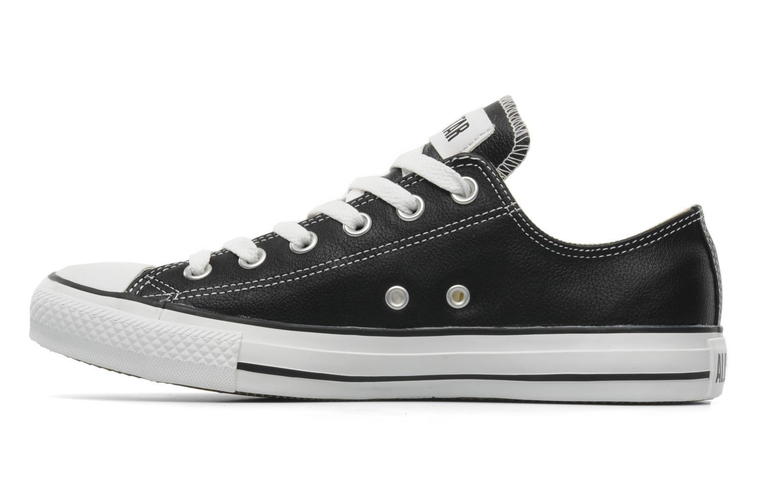 Sneakers Converse Chuck Taylor All Star Leather Ox M Nero immagine frontale