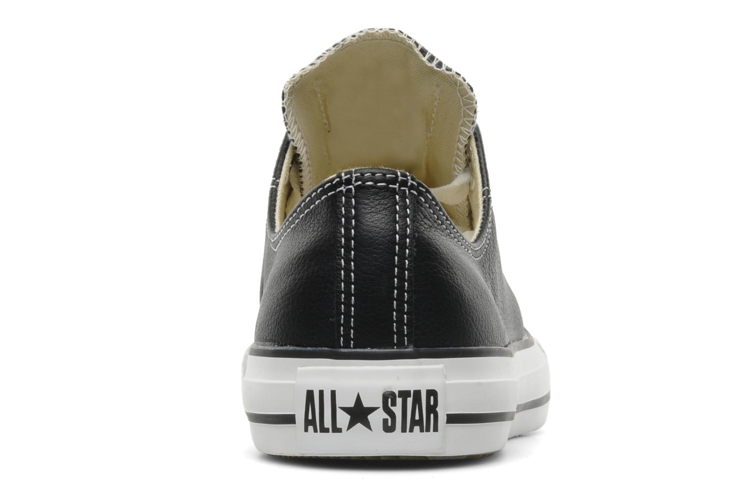 Deportivas Converse Chuck Taylor All Star Leather Ox M Negro vista lateral derecha