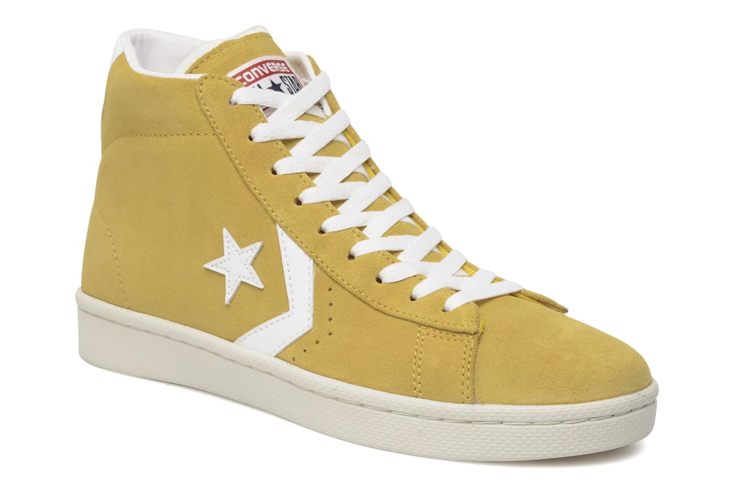 converse pro leather yellow