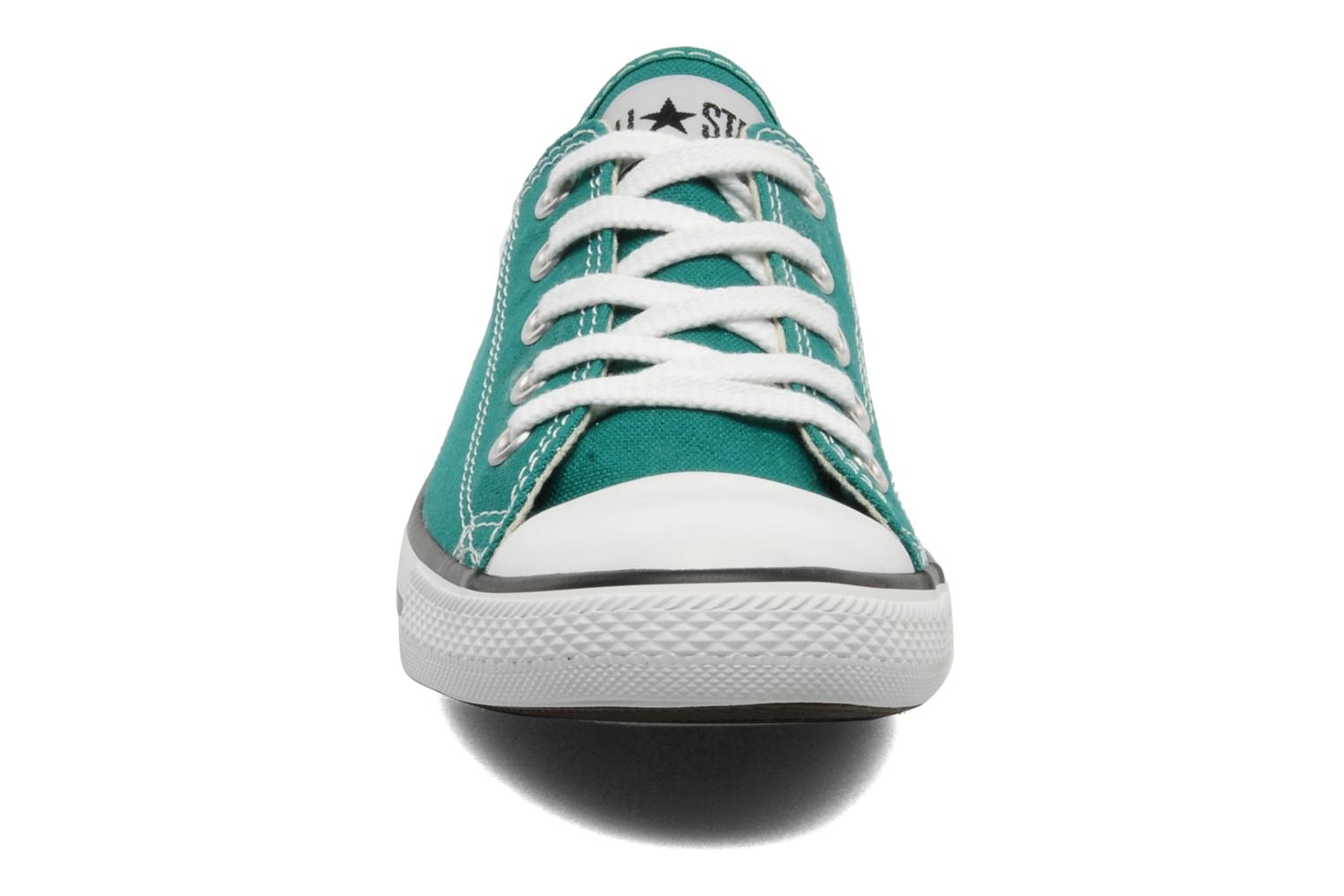 Deportivas Converse All Star Dainty Canvas Ox Verde vista del modelo