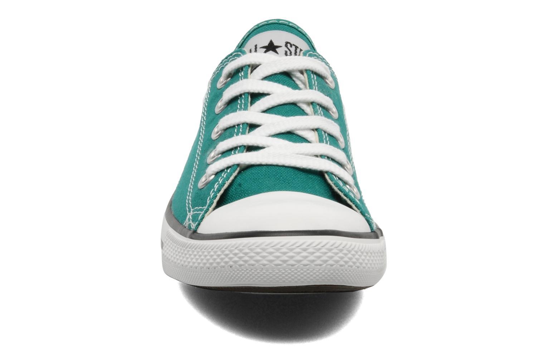 Deportivas Converse All Star Dainty Canvas Ox Verde vista del modelo
