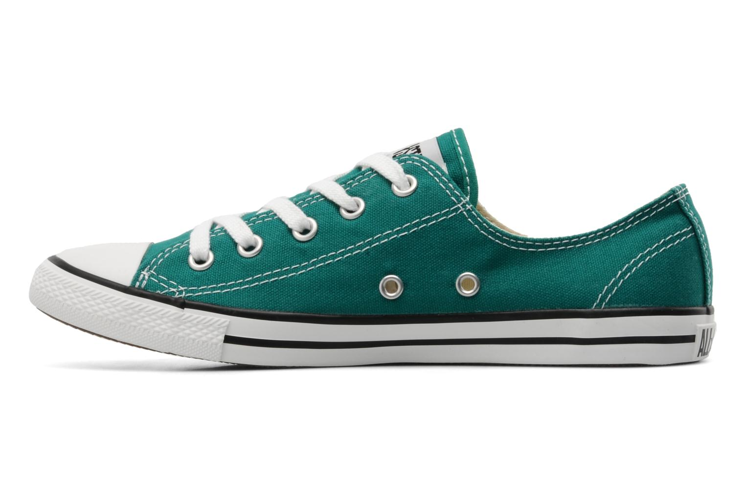 Deportivas Converse All Star Dainty Canvas Ox Verde vista de frente