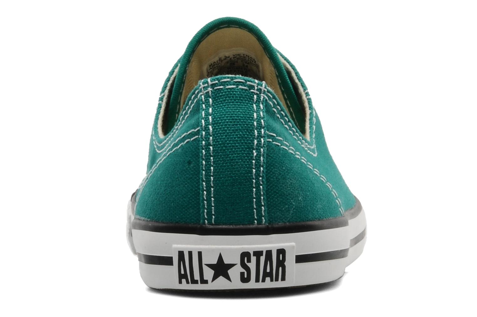 Deportivas Converse All Star Dainty Canvas Ox Verde vista lateral derecha