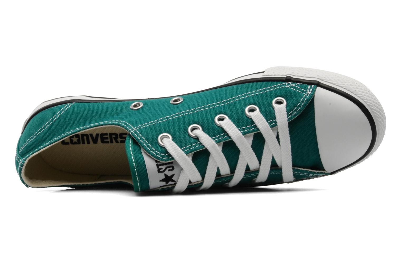 Deportivas Converse All Star Dainty Canvas Ox Verde vista lateral izquierda
