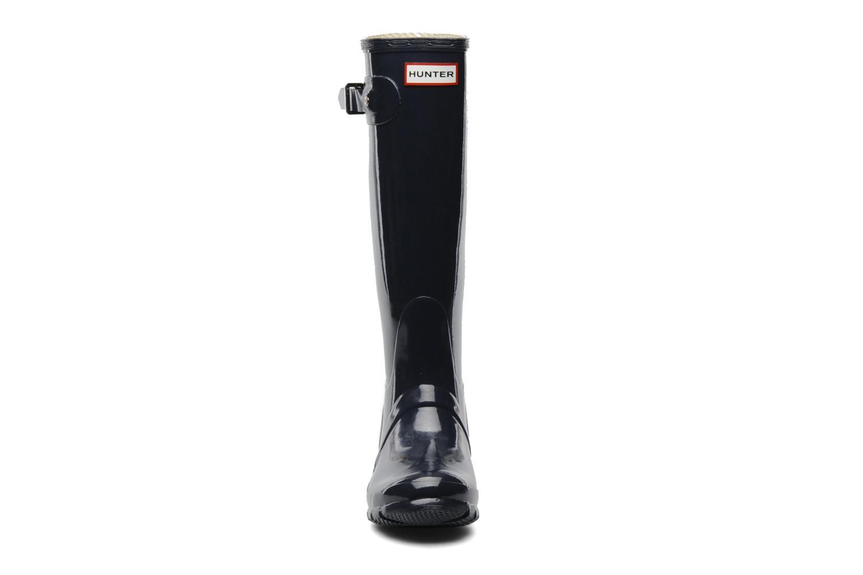 Stövlar & gummistövlar Hunter Original Tall Gloss Blå bild av skorna på