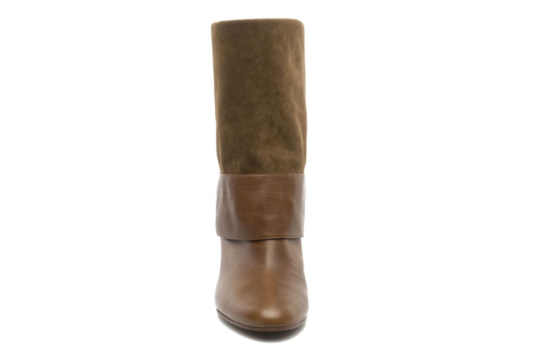 Bottes Casadei Tango Marron vue portées chaussures