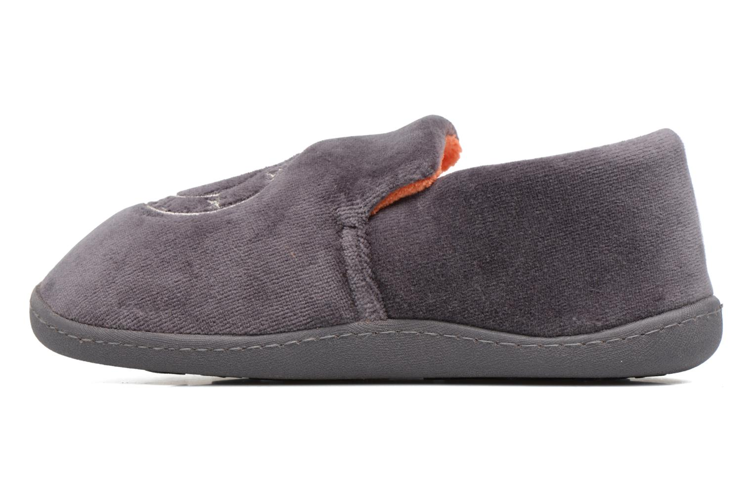 Chaussons Isotoner Charentaise Velours Gris vue face