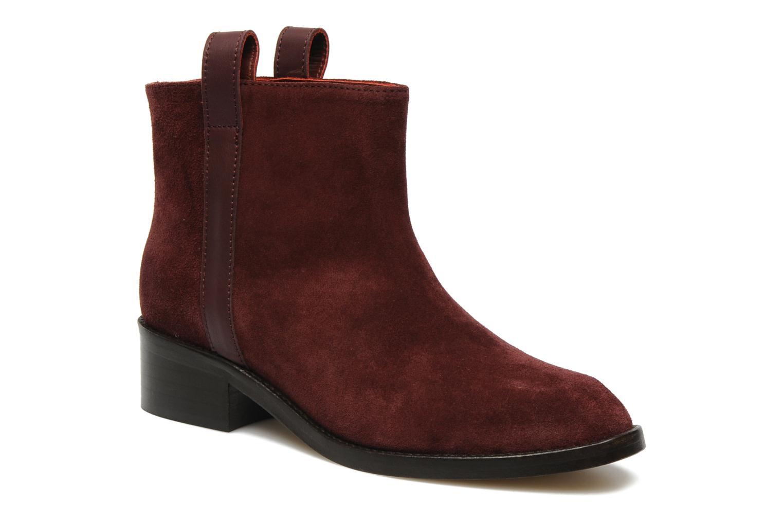 Kim Pull Tab Boots Burgundy