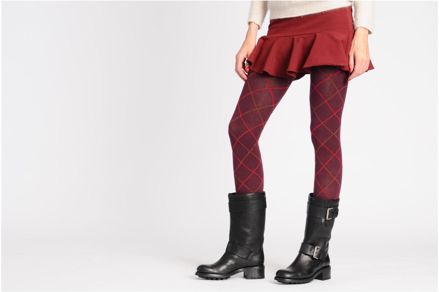 Ankle boots Free Lance Biker 4 Mid Strap Brown view from underneath / model view