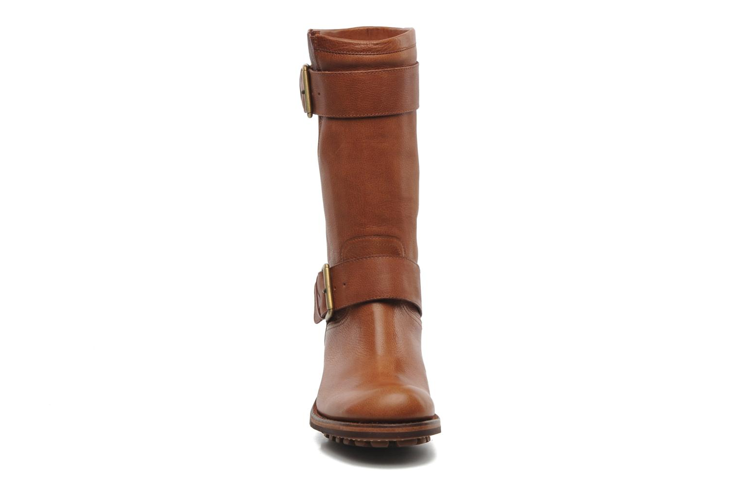 Ankle boots Free Lance Biker 4 Mid Strap Brown model view