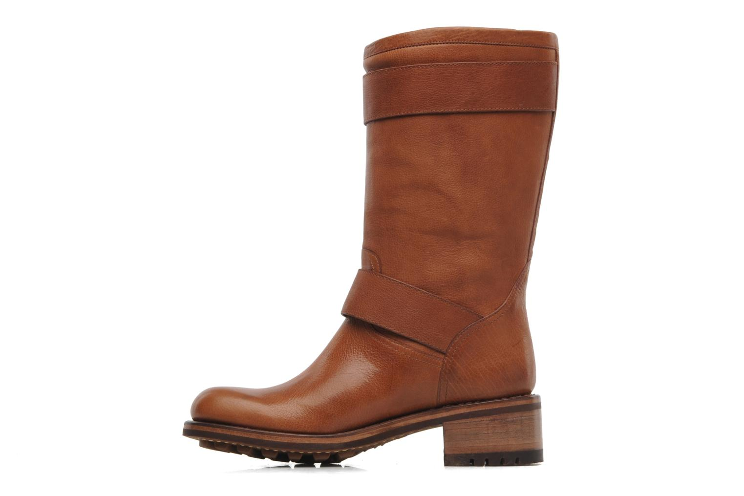 Ankle boots Free Lance Biker 4 Mid Strap Brown front view