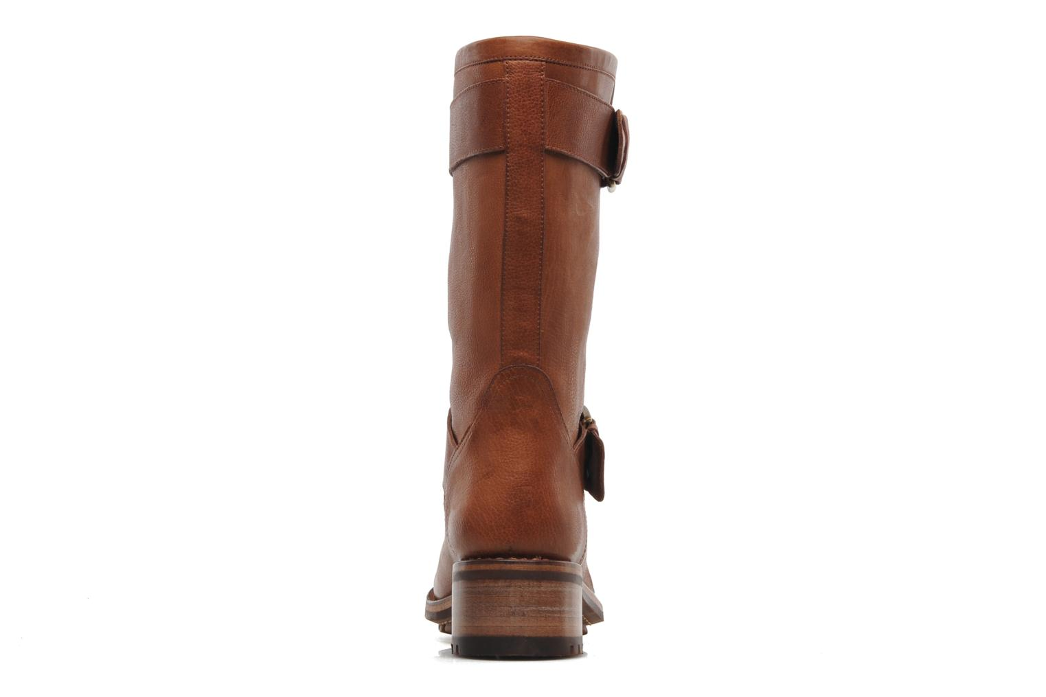 Ankle boots Free Lance Biker 4 Mid Strap Brown view from the right