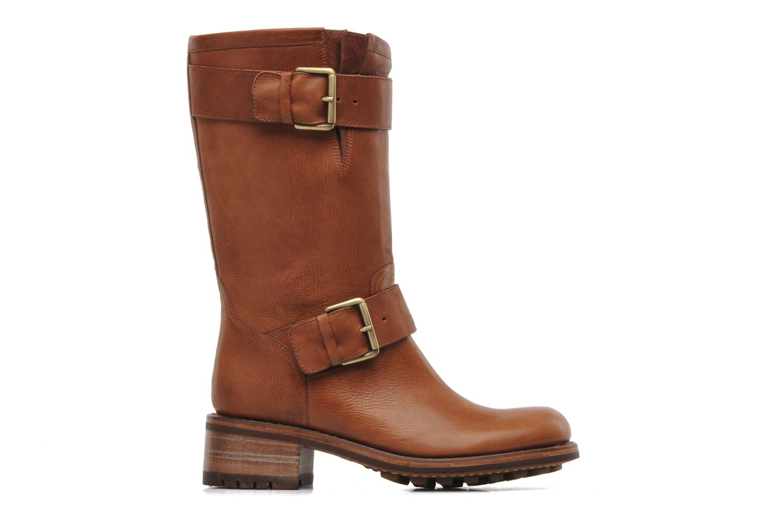 Ankle boots Free Lance Biker 4 Mid Strap Brown back view