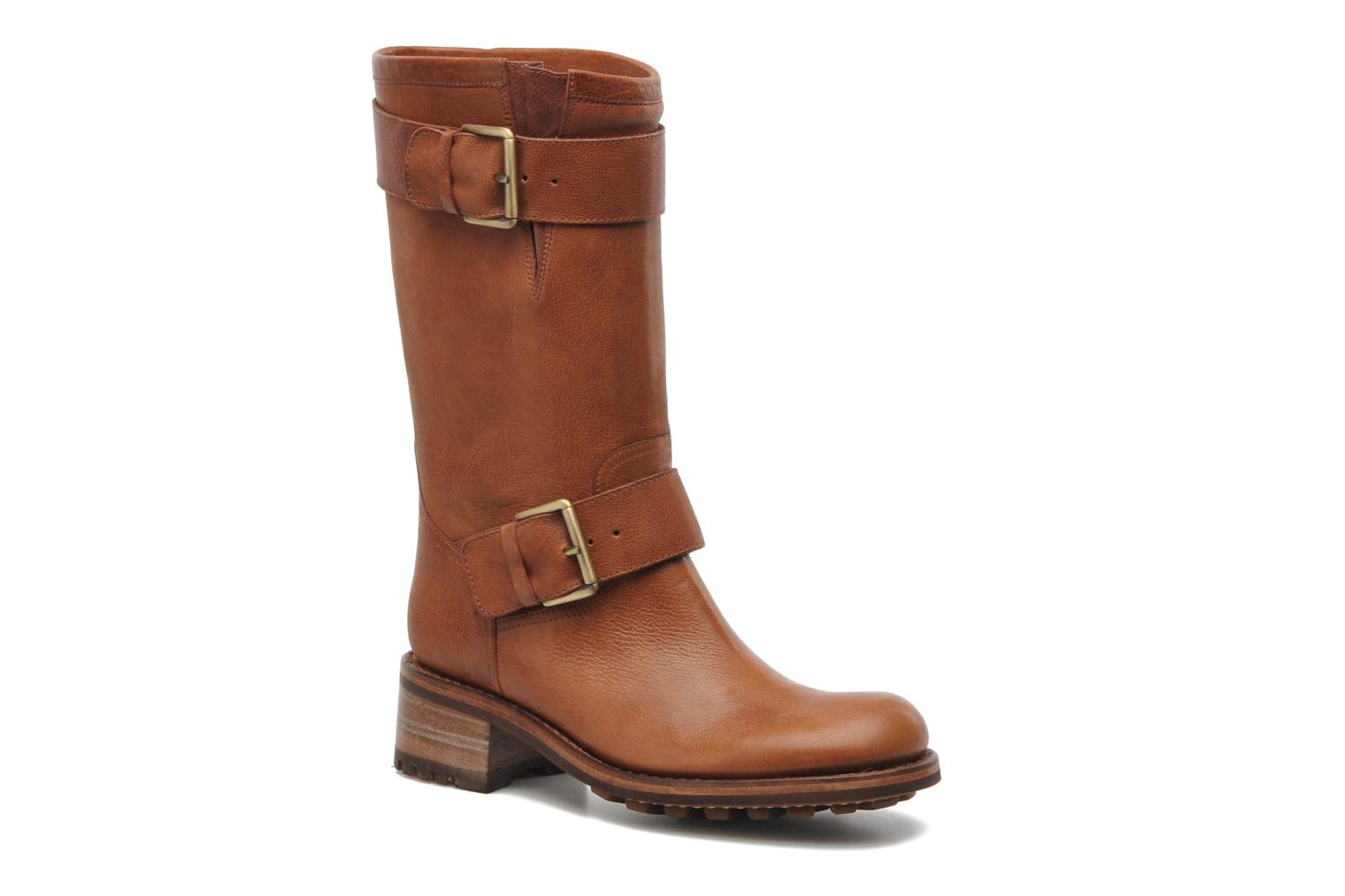 Ankle boots Free Lance Biker 4 Mid Strap Brown detailed view/ Pair view