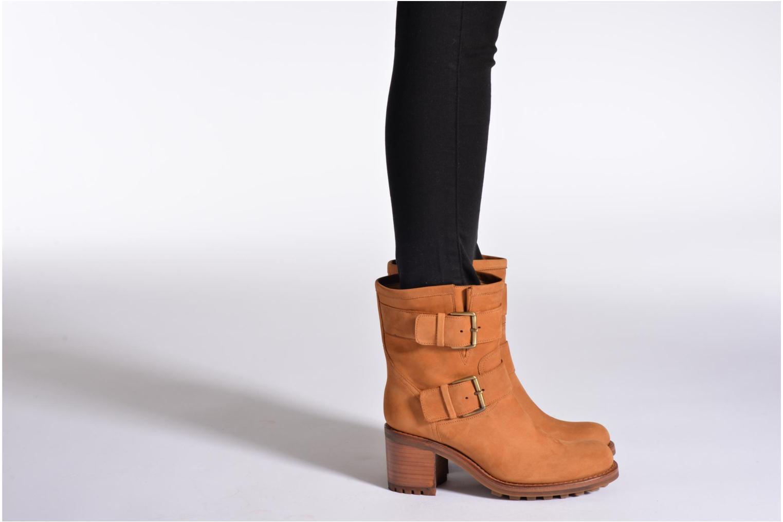 Stiefeletten & Boots Free Lance Biker 7 Mini Strap schwarz ansicht von unten / tasche getragen