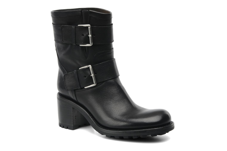 Bottines et boots Free Lance Biker 7 Mini Strap Noir vue détail/paire