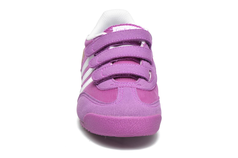 Baskets Adidas Originals Dragon Cf C Violet vue portées chaussures