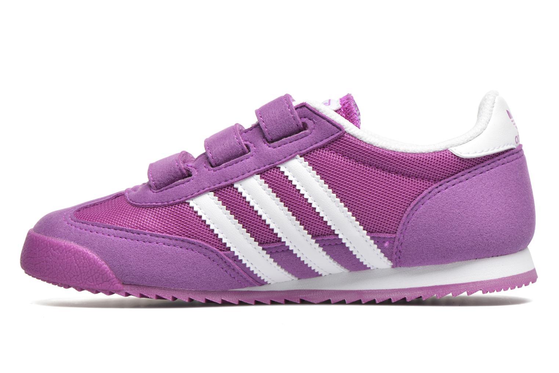 Sneaker Adidas Originals Dragon Cf C lila ansicht von vorne