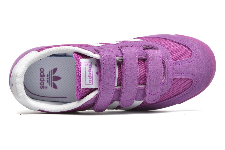 Sneaker Adidas Originals Dragon Cf C lila ansicht von links
