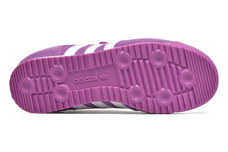 Baskets Adidas Originals Dragon Cf C Violet vue haut