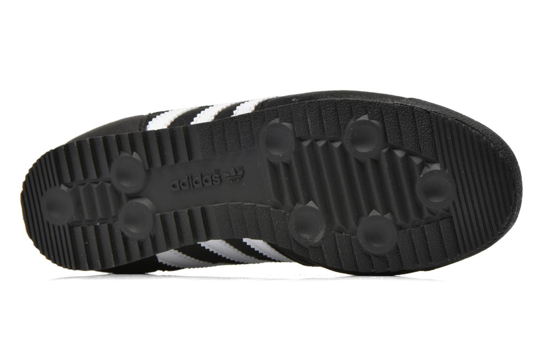 Baskets Adidas Originals Dragon J Noir vue haut