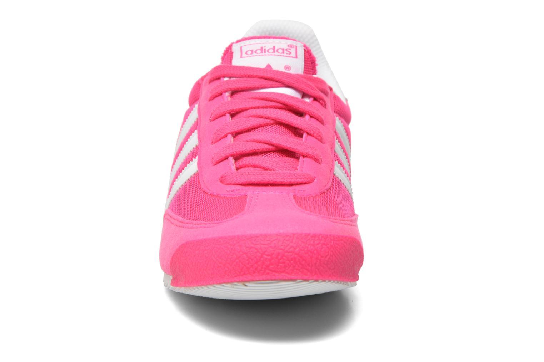 Baskets Adidas Originals Dragon J Rose vue portées chaussures