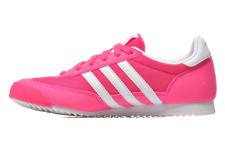 Sneaker Adidas Originals Dragon J rosa ansicht von vorne