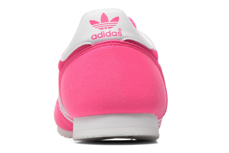 Deportivas Adidas Originals Dragon J Rosa vista lateral derecha