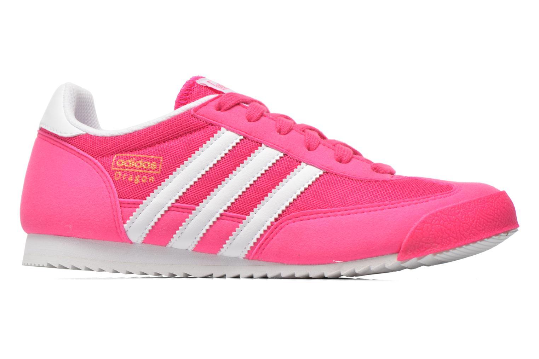 Sneaker Adidas Originals Dragon J rosa ansicht von hinten