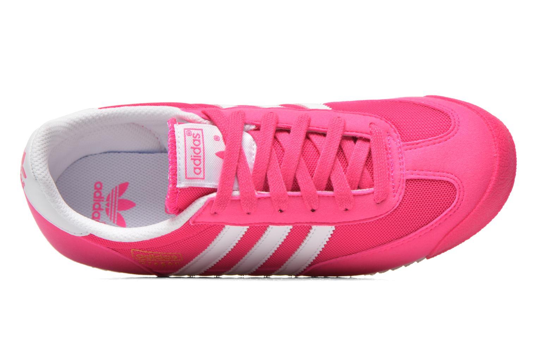 Sneaker Adidas Originals Dragon J rosa ansicht von links