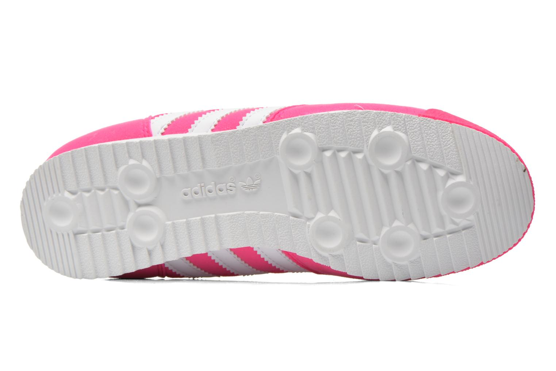 Baskets Adidas Originals Dragon J Rose vue haut