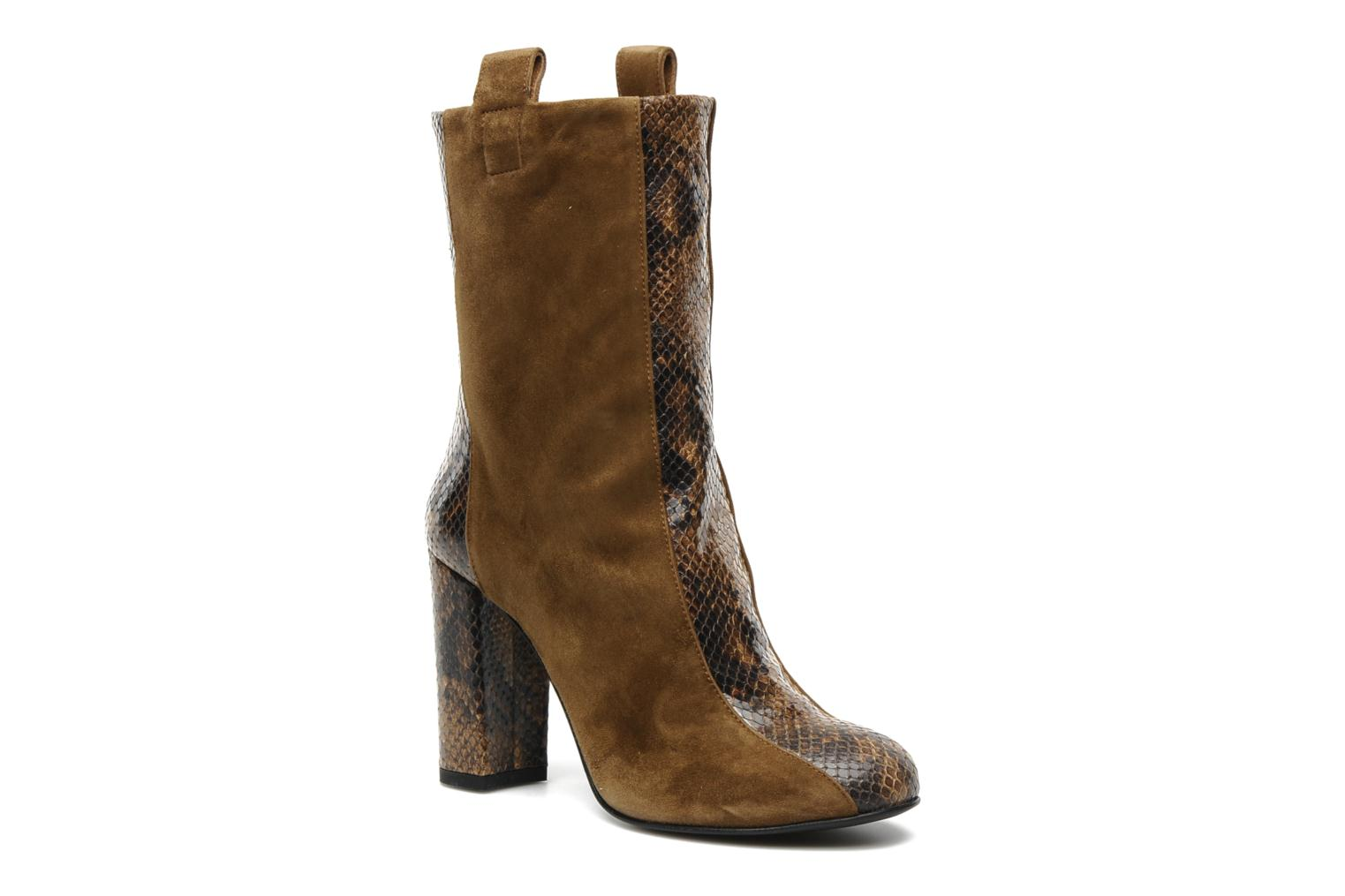 Boots en enkellaarsjes Paul & Betty Biton Low Bruin detail