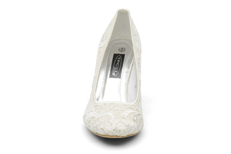 Escarpins Spot On Josiana Blanc vue portées chaussures