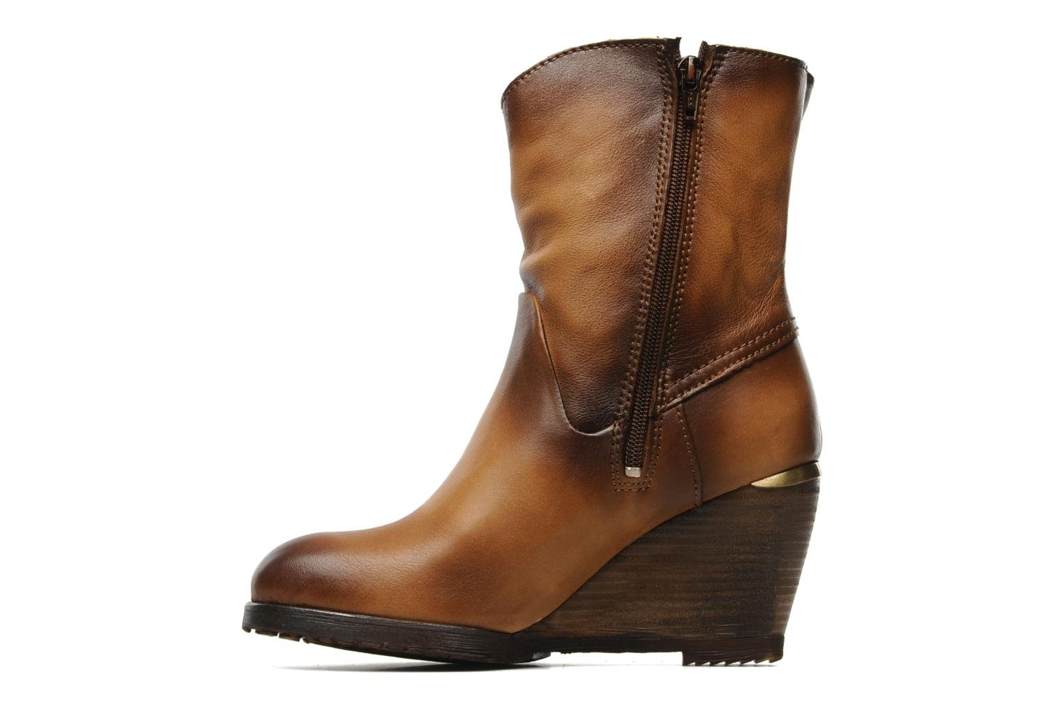Bottines et boots Bronx LUNE 33371 Marron vue face
