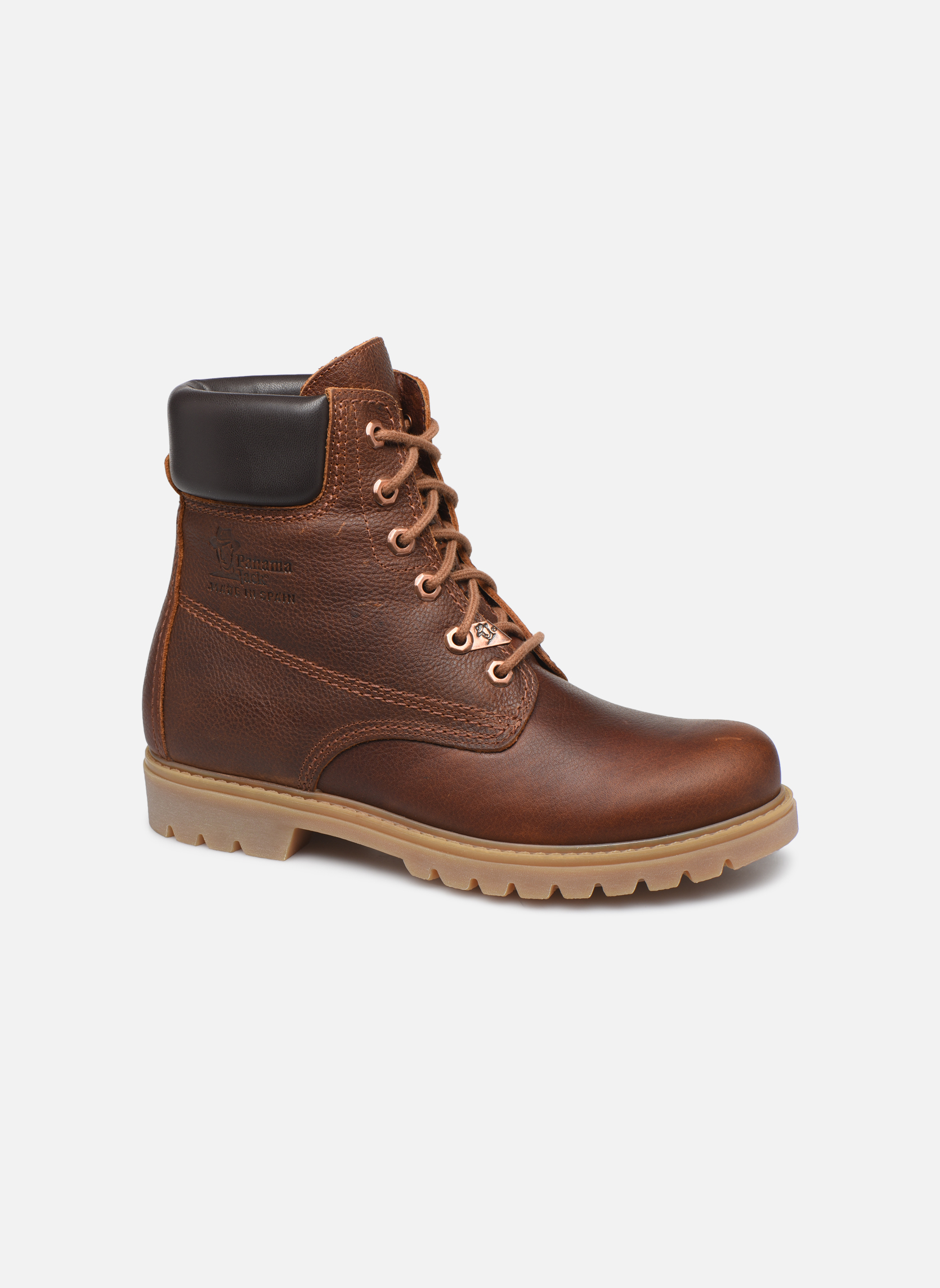 Ankle boots Panama Jack Panama 03 W Brown detailed view/ Pair view