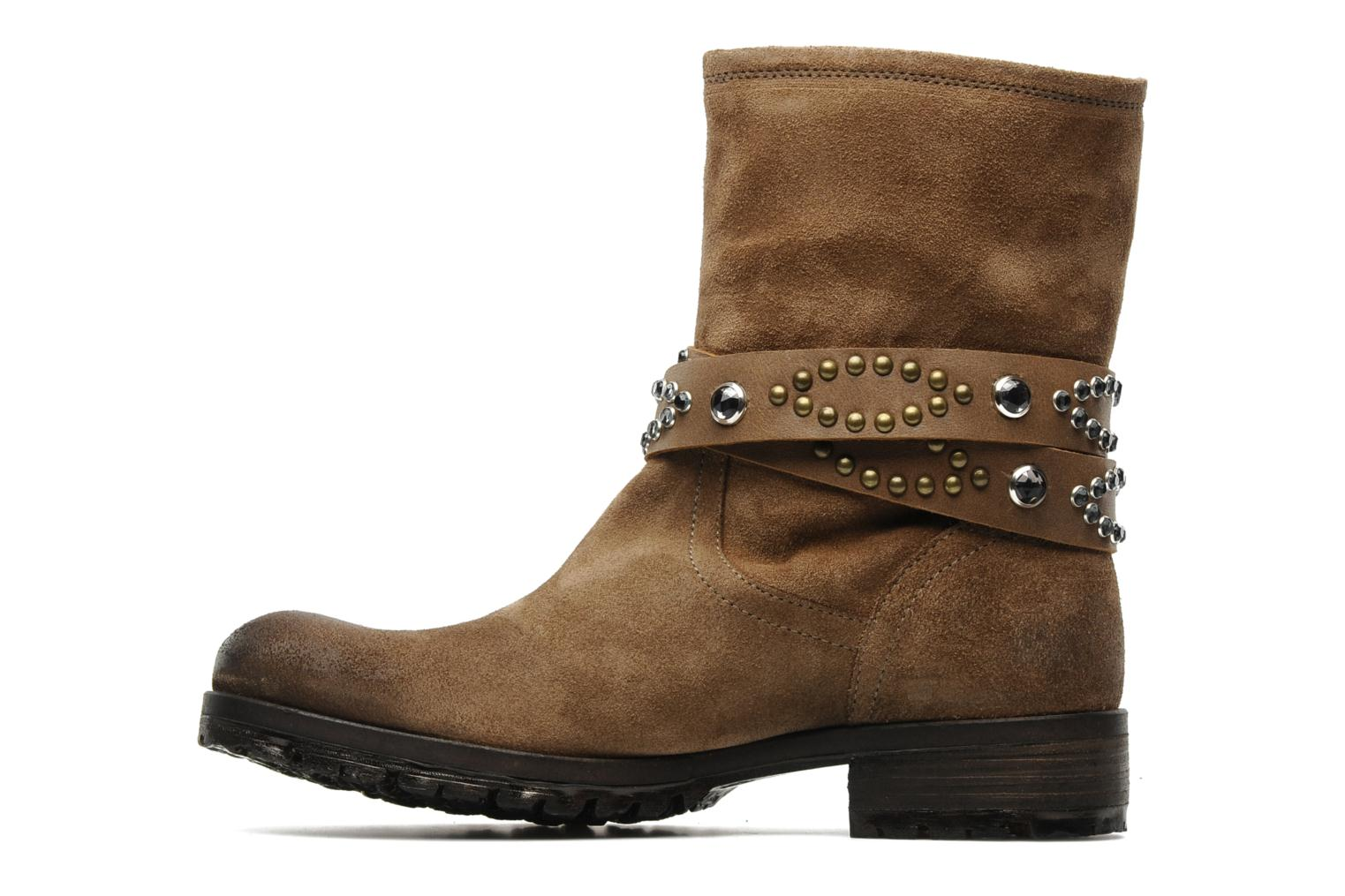 Bottines et boots Folk'l Olexa Marron vue face