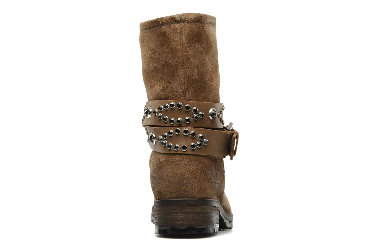 Ankle boots Folk'l Olexa Brown view from the right
