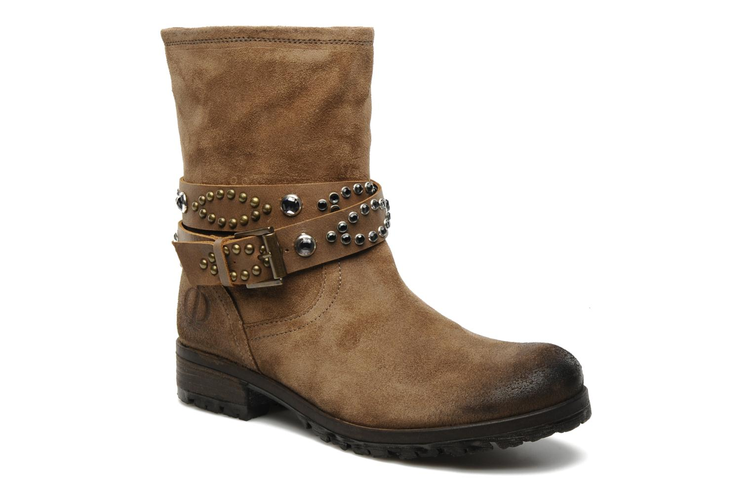 Ankle boots Folk'l Olexa Brown detailed view/ Pair view