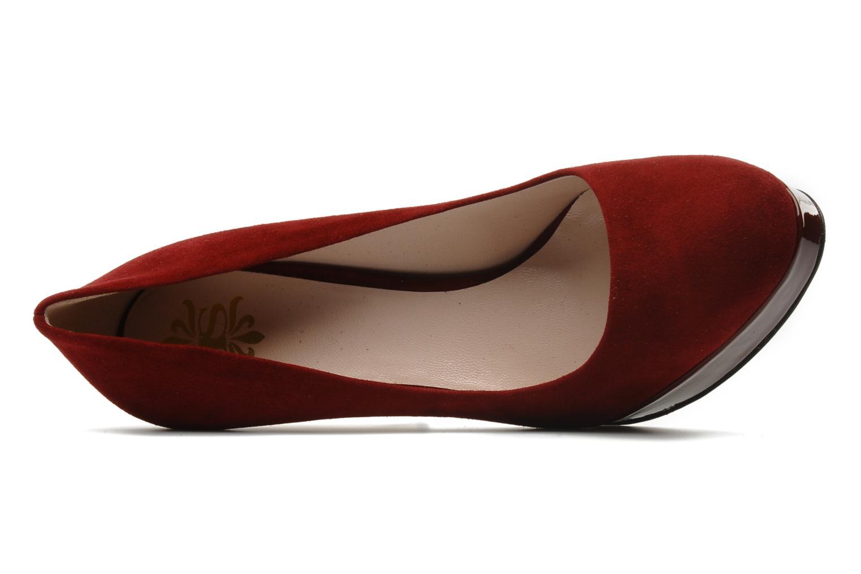 Elia suede bordeaux 082 + patent leather bordeaux heel