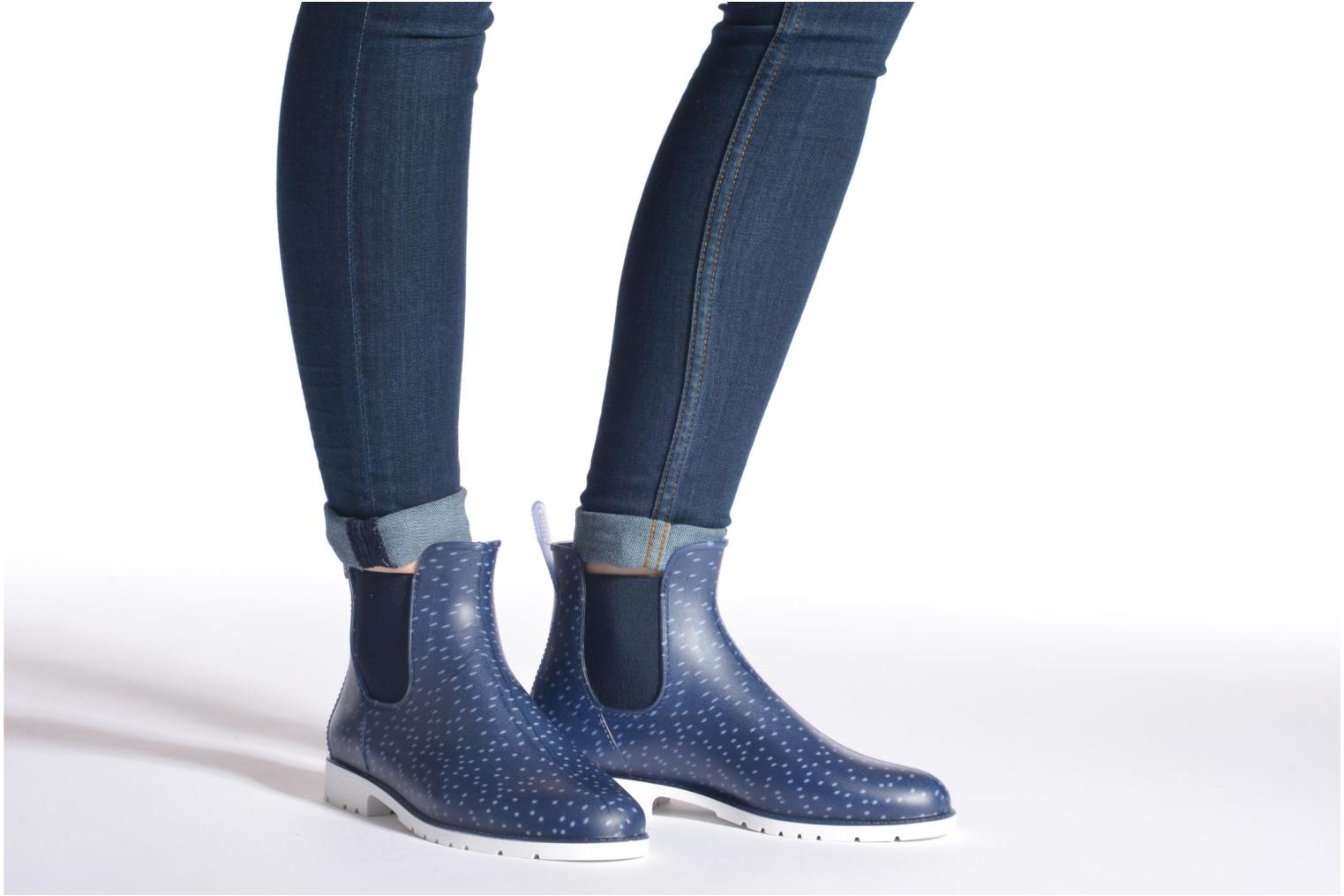Ankle boots Méduse Jumpy Blue view from underneath / model view