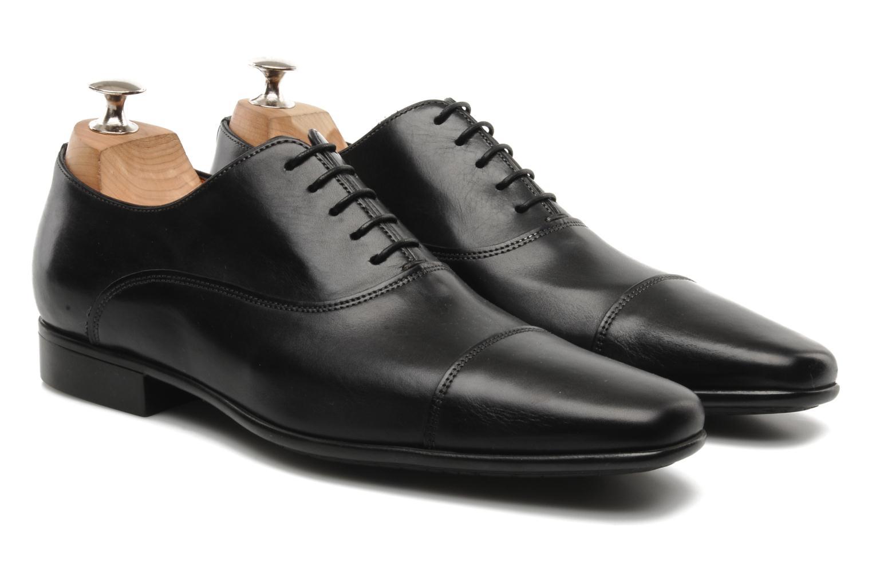 Chaussures à lacets Santoni Evan 11759 Noir vue 3/4