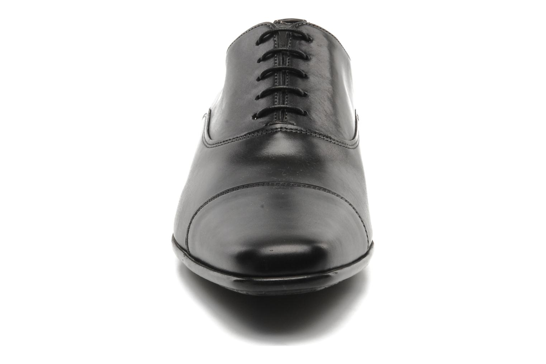Schnürschuhe Santoni Evan 11759 schwarz schuhe getragen