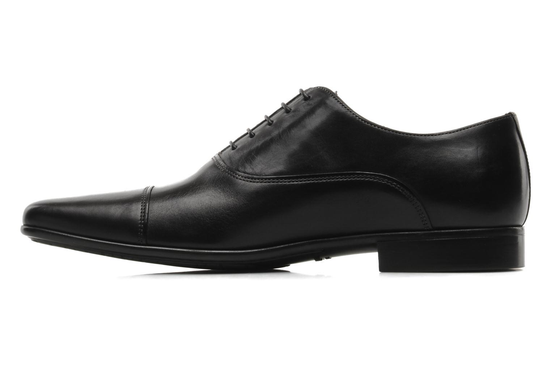 Chaussures à lacets Santoni Evan 11759 Noir vue face